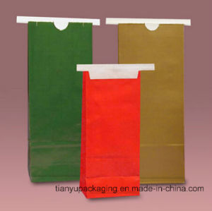 Hot Sale Food Grade Kraft Paper Bag with Tin-Tie pictures & photos