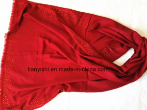 100% Cashmere Light Woven Shawl with Ringstone pictures & photos