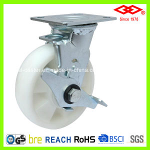 All Size Swivel Plate Braked PP Wheel Caster (P740-30FB100X40Z) pictures & photos