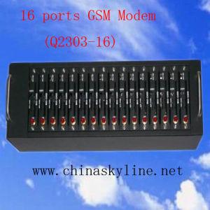 16 Ports GSM Modem for Bulk SMS/MMS, RS232/USB Interface GSM Modem (Q2403-16)
