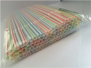 Striped Cola Plastic Straw, Flexible Drinking Straw pictures & photos