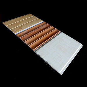 25cm Width Groove and Flat Lamination PVC Wall Panel China Decoration pictures & photos
