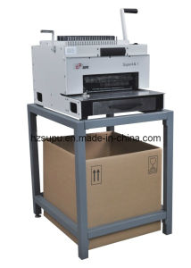 Multifunction Paper Punching Comb Wire Spiral Binding Machine with Stand pictures & photos