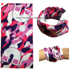 OEM Produce Customized Logo Printed Multifunctional Magic Seamless Tubular Scarf pictures & photos