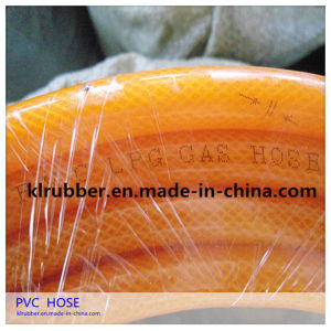 Yellow Fiber Reinforced Flexible PVC Gas Hose for LPG Gas pictures & photos