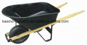 High Quality Wheel Barrow with Wooden Handle pictures & photos