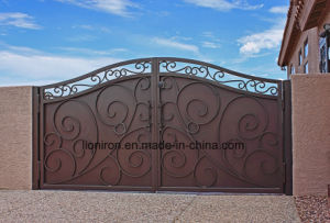 Hot Galvanizing Security Entrance Iron Gates for Residential pictures & photos