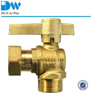 Angle Type Water Meter Ball Valve and Female/Free Nut pictures & photos