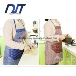 Kitchen Restaurant Cooking Aprons with Pocket for Women with Oversleeve pictures & photos