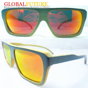 Fashion Blue Bamboo Polarized Sunglasses