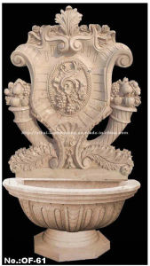 Carved Stone Water Granite Fountain for Outdoor Decor (YKOF-61)