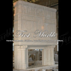 Top Quality White Carrara Mantel for Home Decoration Mfp-176 pictures & photos