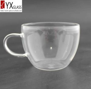 130ml High-Borosilicate Glass Coffee Cup with Glass Handle/Glass Coffee Mug/Glass Tea Cup/Glass Tea Mug for Italy Market pictures & photos