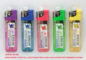 (Item No. BD-588) Baida Lighter, Electronic Refillable Gas Lighter pictures & photos