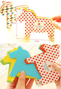 Creative Horse-Shaped Printing Sticky Note pictures & photos