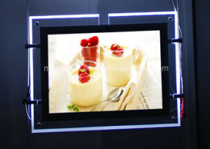 Finger Curved Open LED Backlit Acrylic Light Box for Advertising pictures & photos