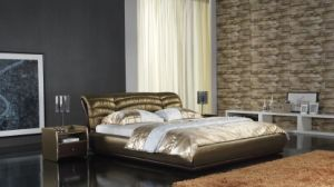 Leather Modern Soft Bed (6026) pictures & photos
