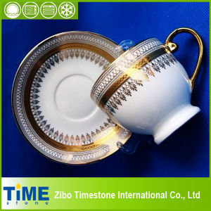Royal Gold Rim Design Bone China Cup and Saucer (CM612078) pictures & photos
