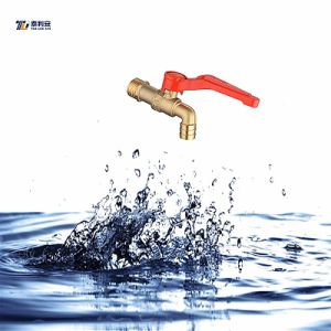 Brass Faucet Tap with Iron Handle (T1066)