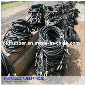 High Pressure Hydrailic Rubber Hose for Hydraulic Fluids pictures & photos