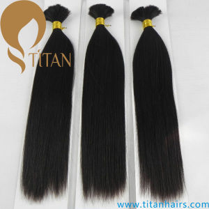 Natural Black 100% Human Virgin Remy Hair Bulk
