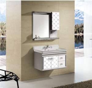 Stainless Steel Bathroom Cabinet Bathroom Corner Cabinet T-9579 pictures & photos