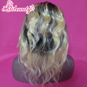 Brazilian Virgin Hair Body Wave Ombre Weave 1b/613 Blonde 360 Frontal pictures & photos