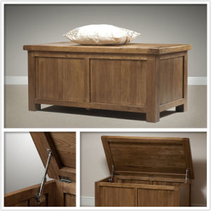 Solid Oak Wooden Storage Blanket Box (HSRU0018)