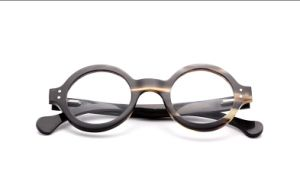 Retro Round Frame Optical Mirror Frames of Male and Female Natural Horn Material Myopia Glasses Frame