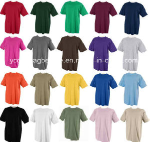 Cheap Plain Cotton T-Shirt with Different Colors pictures & photos