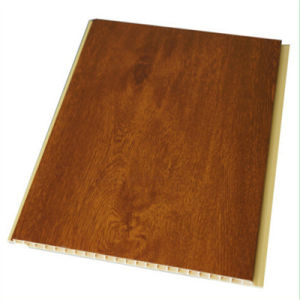 8*250mm Deep Wooden Color Lamination PVC Wall Panels for Construction Material pictures & photos