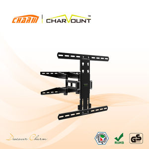 Stylish Heavy-Duty Full-Motion Curved & Flat Panel TV Wall Holder (CT-WPLB-M101B) pictures & photos