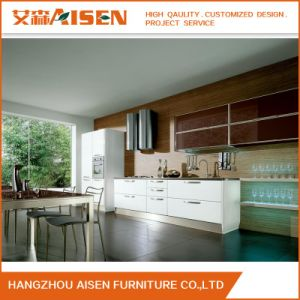 New Design Wood PVC Lacquer Kitchen Cabinet Made in China pictures & photos