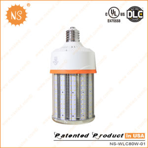 UL Dlc IP65 250W Metal Halide Replacement E39 80W LED Lamp LED Corn Light with Cover Factory Price pictures & photos