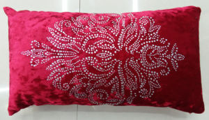 Hand-Made Decorative Pillow Diamond Ironing Decorative Cushion (XPL-61) pictures & photos