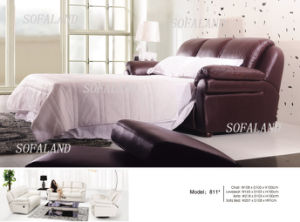 Modern Italy Leather Sofa Bed 811# pictures & photos