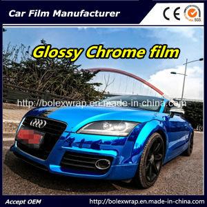 Blue Glossy Chrome Film Car Vinyl Wrap Vinyl Film for Car Wrapping Car Wrap Vinyl pictures & photos