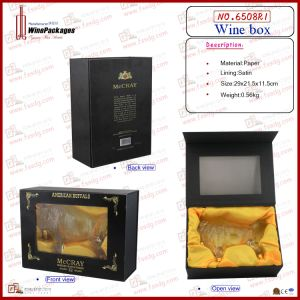 Glory Black Wooden Bottle Display Box (6508R1) pictures & photos