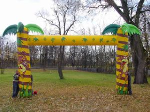 Inflatable Arch, Jungle Theme Inflatable Archway for Zoo, Parks K4010 pictures & photos