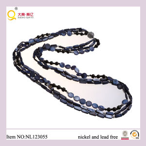 Fashion Shell, Glass Beads Magnet Clasp Necklace, High Quality Jewellery/Jewelry Necklace, Semipreciousglass Bead Necklace pictures & photos