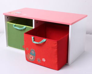 Factory Supply Wooden Toy Storage Wooden Container with Fabric Drawer Furniture pictures & photos