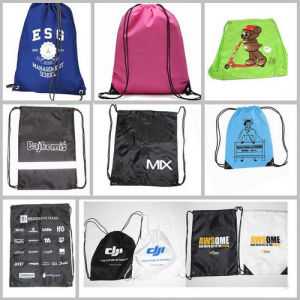Polyester Draw String Cinch Bag Promotional Backpacks Bags