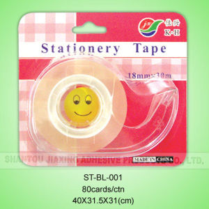 18mmx20m Stationery Tape with Dispenser in Blister Card pictures & photos