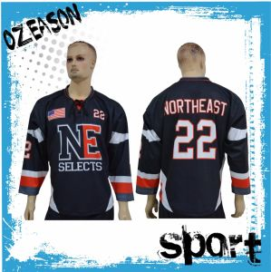 Cheap Custom Sublimation Team Ice Hockey Jerseys Wholesale (H001) pictures & photos