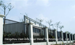 Simple Industrial Residential Galvanized Steel Flat Top Fence pictures & photos