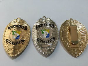 Silver Plating Police Badge Custom Army Badge (GZHY-BADGE-010) pictures & photos
