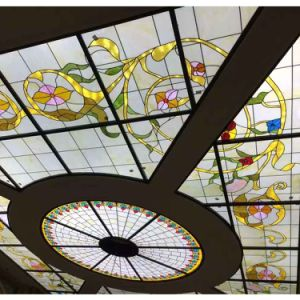 China Design Feature Floating Design Stained Glass Panels for Ceiling pictures & photos