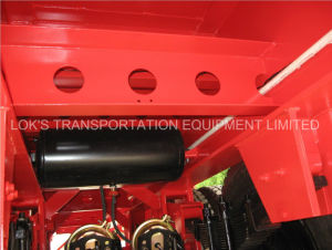 40 Feet Tandem Continer Flatbed Semi Trailer for Egptp pictures & photos