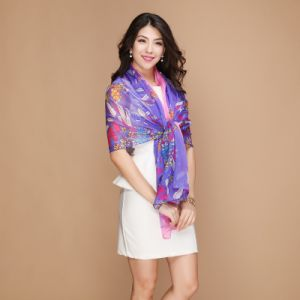 100% Silk Fashion Long Scarf for Women′s pictures & photos