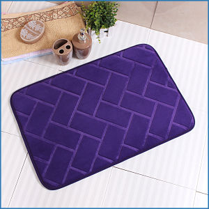 Low MOQ Memory Foam Embossed Bathroom Bath Set Mat pictures & photos